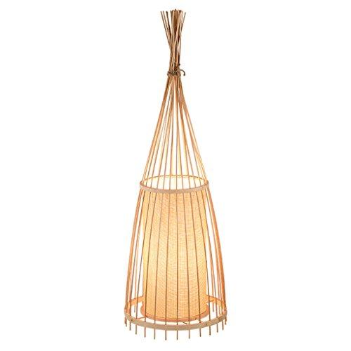 Staande lamp Retro E27 staande lamp woonkamer bamboe tafellamp knop schakelaar bamboe LED