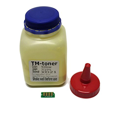 TM-toner Compatible Yellow Toner refill kit with chip for Xerox Phaser 6022 6022/NI Wireless Color Photo Printer, Xerox WorkCentre 6027, 6027/NI 106R02758