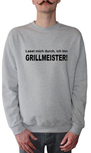 Mister Merchandise Homme Sweatshirt Lasst Mich durch, ich Bin Grillmeister! Grillen BBQPull Sweat Men, Taille : L, Couleur: Gris