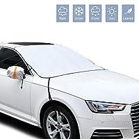 車用フロントガラススノーカバー アイスカバー 防雨冬用スノーカバー 4層保護 ミラーカバー付き 雪 氷 UVプロテクター 大型厚手氷 フロントガラスカバー ほとんどの車に対応