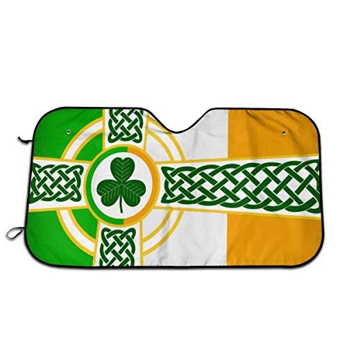 Ierse vlag universele maat past 51 x 27 inch - voorruit auto vrachtwagen SUV zonnekap - interieur accessoires