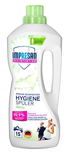 Impresan Hygiene-Spüler Aktiv: Wäsche-Desinfektion für Sportkleidung aus Funktionsfasern oder Synthetics – 1 x 1,25L