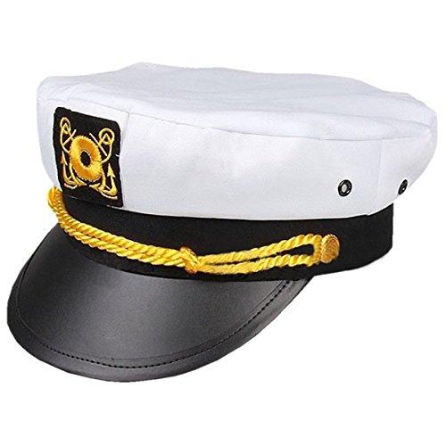 Deet Capitn marinero marinero capitn sombrero azul marino accesorios para disfraz de fiesta nutica marina/cumpleaos, noches de estudiantes