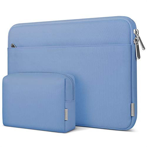 """Inateck 13-13.5"""" Laptop Sleeve Carrying Case Compatible with13 Inch MacBook Pro 2012-2020 & MacBook Air 2010-2020, 13.5'' Surface Laptop/Book, 12.9 Inch iPad Pro 2020 with Accessory Pouch - Sky Blue"""