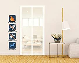 Liveinu Fiberglass Flame Retardant Magnetic Window Screen Mesh Anti Fly Mosquito Insect Curtain with Magnets for Window and Door Full Frame,No Drilling,Sticker Pin Install White 29