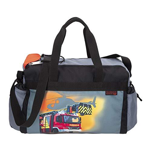 FEUERWEHR - Firefighter - McNeill Schulsporttasche Sporttasche Schwimmtasche mit NASSFACH Freizeittasche Kindertasche