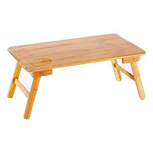 LF- Bureau d'ordinateur Table Lazy Table Pliante Remarque Portable for Le lit en Bois Massif Facile à Ranger (Size : Medium)