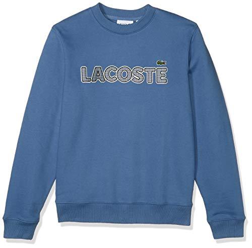 Lacoste Mens Long Sleeve Brushed Fleece Tattersall Sweatshirt Sweatshirt, King Blue, XL