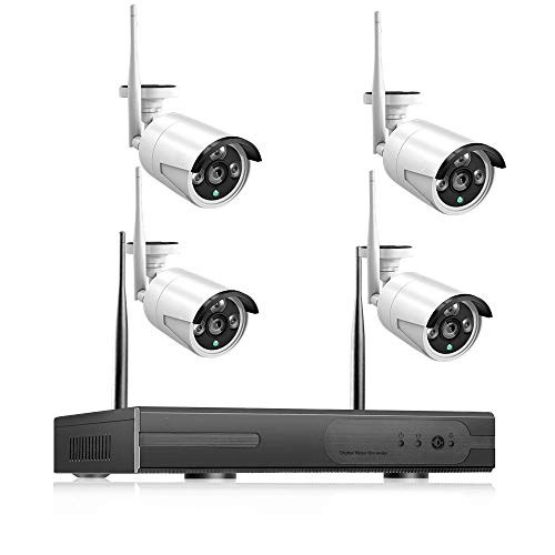Camara Vigilancia WiFi Interior 2Mp 1080P CCTV Sistema CCTV 8Ch HD Wireless Nvr Kit 3Tb HDD HDD Visión Nocturna IR De La Noche IP WiFi Cámara Sistema De Seguridad Monitor