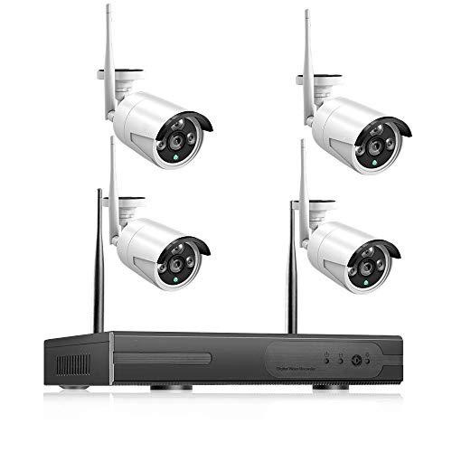 Kit De Videovigilancia 2Mp 1080P CCTV System 8Ch HD Wireless Nvr Kit 3Tb HDD Outdoor IR Night Vision IP WiFi Camera Sistema De Seguridad Vigilancia-C