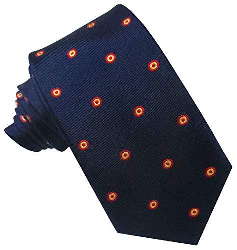 JOSVIL Corbatas de España con la bandera de españa. Corbata Seda Marino Escarapela. Corbata de seda para hombre elegante y de gran calidad.