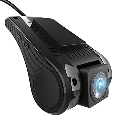 AWESAFE Universale USB Dash Cam Fotocamera Frontale per Android Autoradio 1 Din 2 Din Videocamera da cruscotto, Supporta la Connessione WIFI del Telefono Cellulare
