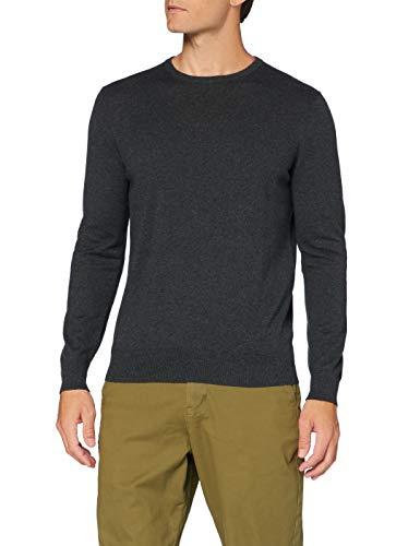 Amazon-Marke: MERAKI Baumwoll-Pullover Herren mit Rundhals, Grau (Charcoal), 3XL, Label: 3XL