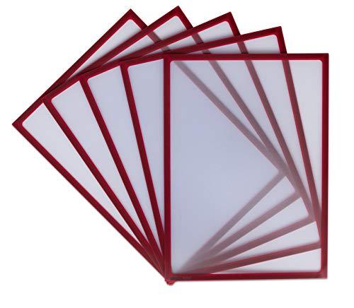 Betzold - Infotaschen magnet-haftend, 5er Set, DIN A4 - Magnettasche Einsteck-Tasche Infotasche magnetisch Sichttasche Dokumententasche