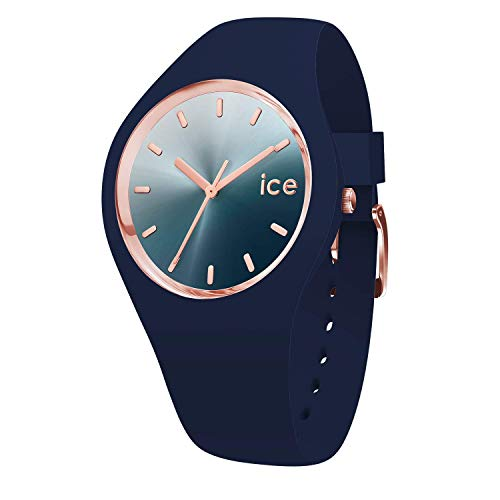 Ice-Watch - ICE sunset Blue - Blaue Damenuhr mit Silikonarmband - 015751 (Medium)