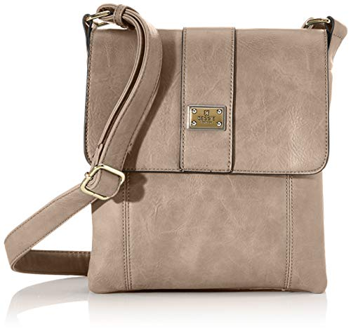 Bessie London Damen Crossbody-Umhängetasche, Khaki, One Size