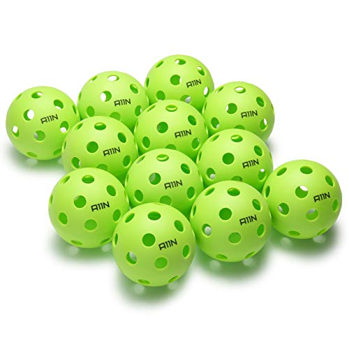 A11N Premium Indoor Pickleball Balls - Green, 6- & 12-packs