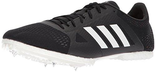 adidas Adizero md Running Shoe, core Black, FTWR White, hi-res Orange s, 12 M US