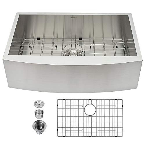 33 Farmhouse Sink - Logmey 33 Inch Apron...
