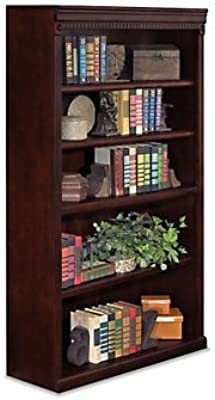 Huntington Club Five Shelf Traditional Bookcase