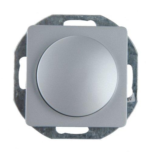 UNITEC 42074L Dimmer-Einsatz, Genua, Silber