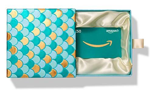 Carte cadeau Amazon.fr -€50 - Dans un Coffret Cadeau émeraude et doré