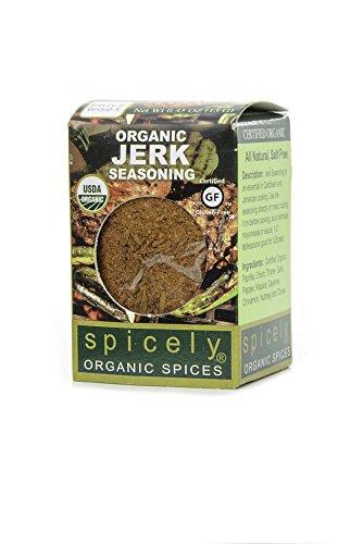 Spicely Organic Seasoning Jerk 0.45 Ounce ecoBox Certified Gluten Free