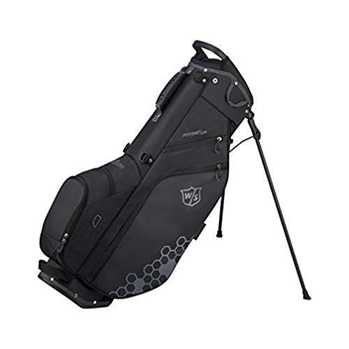 Wilson Staff Feather Golf Stand Bag, WGB5705BL Sacca da Golf, Supporto Integrato, Nero, 1.7 kg