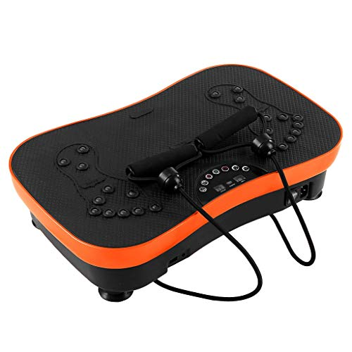 Naladoo Vibration Plate Exercise Machine - Whole Body Workout Vibration Fitness Platform Shaker Flat Platform Massager W/Resistance Band - Home Training Equipment for Weight Loss & Toning