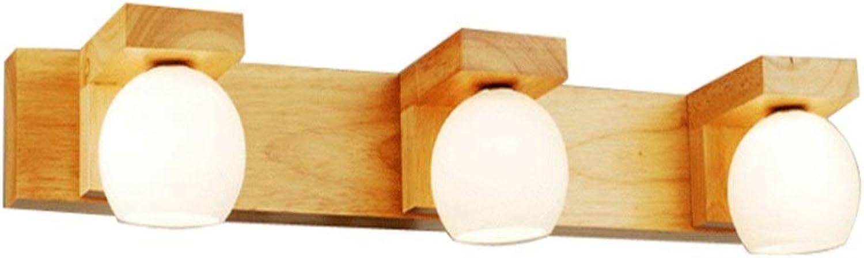 Drei-Kopf-Spiegel Scheinwerfer führte Badezimmer WC Badezimmer Schminktisch Massivholzlampen