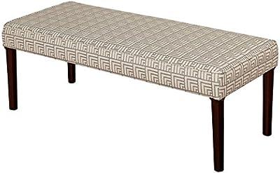 Benzara ETD-EN2710 Lovely and Elegant Wood Vanity Stool