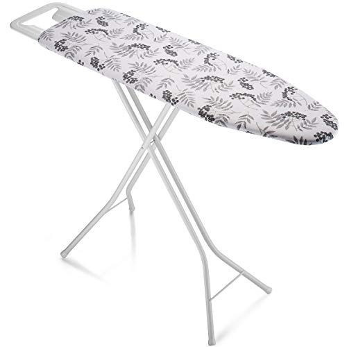 Bartnelli Rorets Ironing Board Made in Europe | Iron Board with 3 Layer Cover Pad, Height Adjustable, Safety Iron Rest, 4 Leg, Home Laundry Room or...
