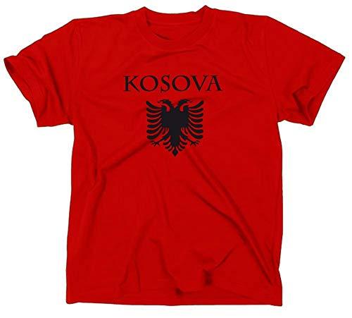 Kosovo Kosova Albanien Flagge T-Shirt, XL