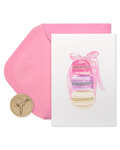 Papyrus Blank Cards with Envelopes, Stack of Macarons (14-Count) (5228236)