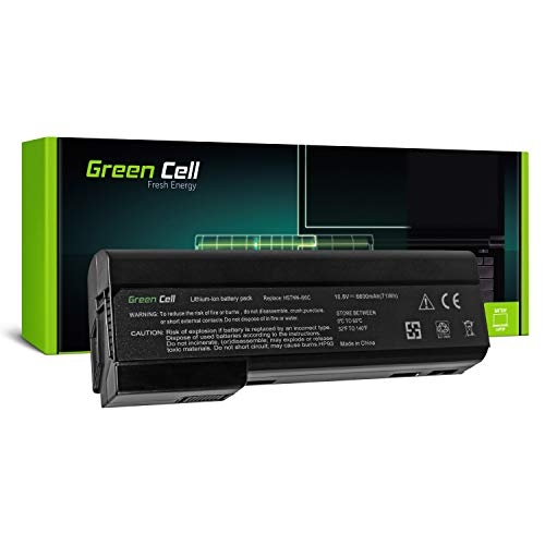Green Cell Extended Serie CC06 CC06XL CC09 Laptop Akku für HP EliteBook 8460p 8460w 8470p 8470w 8560p 8560w 8570p (9 Zellen 6600mAh 10.8V Schwarz)