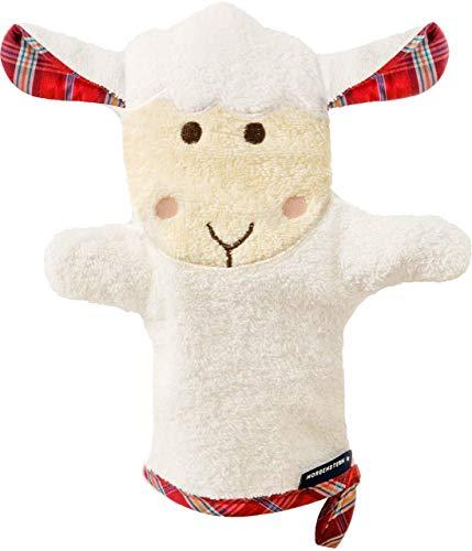 Morgenstern, Figuren - Waschhandschuh, Motiv Schaf, Farbe beige, Material Baumwolle, Handpuppe, Waschlappen