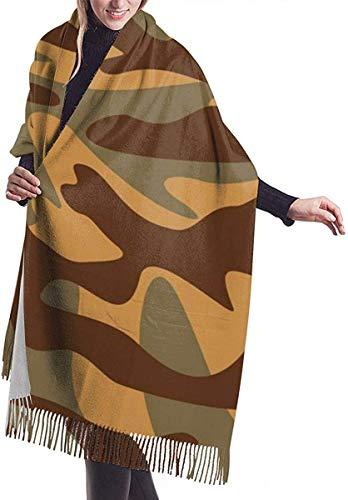 Camouflage Textuur Militaire Behang Zachte kasjmier sjaal Wrap Sjaals Lange Sjaals Voor Vrouwen Office Party Reizen 68X196 cm