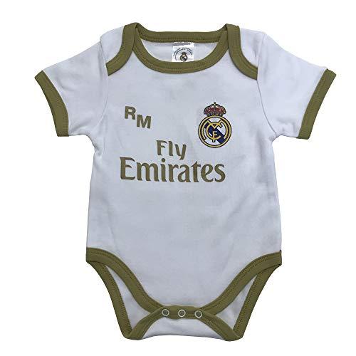 Champion's City Real Madrid FC Body Niños - Producto Oficial Primera equipación 2019/2020 - Personalizable - Nombre