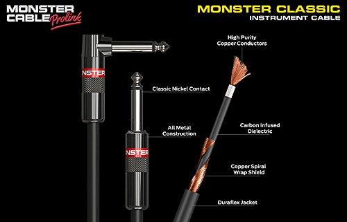 Monster Cable CLAS-I-0.75DA Jack Coude auf Jack Coude Instrumentenkabel (20,3 cm)