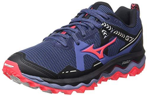 Mizuno Wave Mujin 7, Zapatillas para Carreras de montaña para Mujer, Marlin/Lunarrock/Dpink, 41 EU