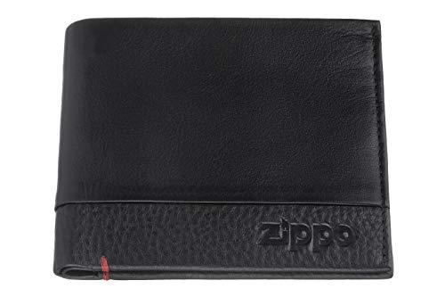 Zippo Nappa leather credit card wallet Portamonete 10 centimeters  Nero (Black)