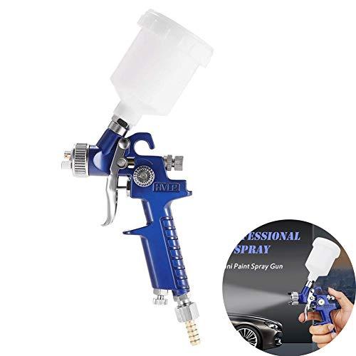 Pistola a Spruzzo Pistola spray per vernice HVLP da 0.8 mm ugelli Pistola Spray per Verniciare con Contenitore 120 ml Aerografo Alimentazione a Gravità Professionale
