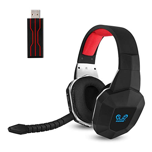 PS4 Wireless Gaming Headset USB for PS5 PC Computer PS4 Slim with Virtual 7.1 Surround Sound and Stereo Over Ear