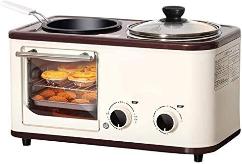 TLCC 4-in-1 Familiengröße Frühstück Station, Start Frühstück Maschine, Multi-Funktions-Toaster, Toaster Toaster, kleine, leichte Lebensmittel-Maschine kann for das Kochen, Omelett, Backen verwendet we