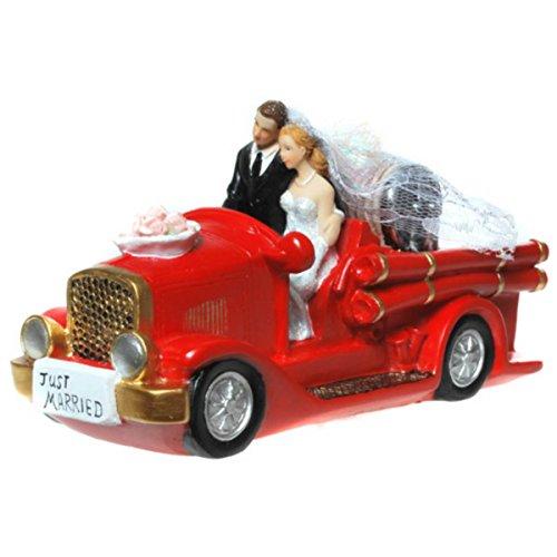 Udo Schmidt Spardose Hochzeitspaar in Feuerwehrauto