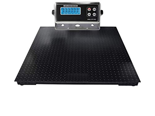 SellEton (48' X 48') Industrial Floor Scale | Heavy Duty Industrial Pallet Scale with Indicator - Size (5000 Lbs X 1 Lb)