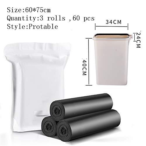 Vuilniszakken groot huis met de hand opgetild oversized oversized vest keuken verdikt zwart plastic tas 60 x 75cm B1