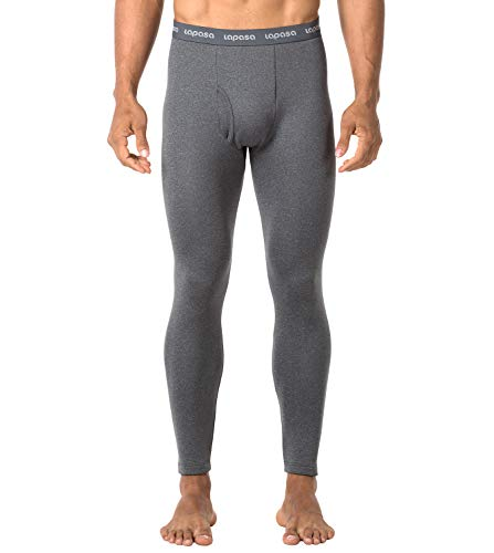 LAPASA Men's Heavyweight Thermal Underwear Pants Fleece Lined Long Johns Leggings Base Layer Bottom M25