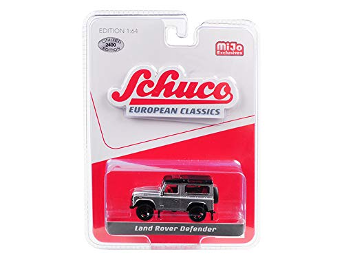 Land Rover Defender Silver European Classics Series Limited Edition to 2,400 Pieces Worldwide 1/64 Diecast Model Car by - Schuco 8600