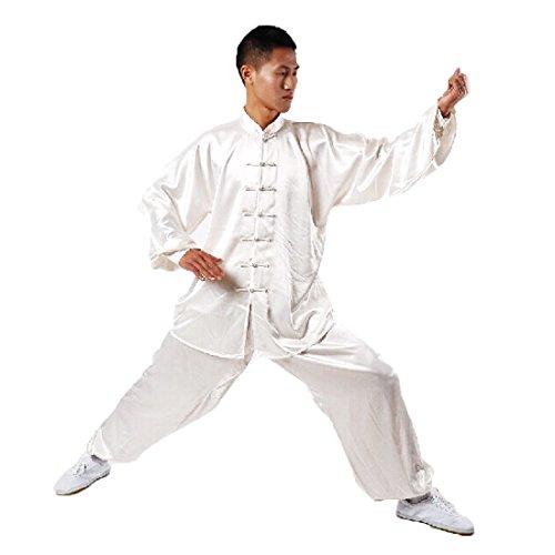 Andux cinese tradizionale Tai Chi uniformi Kung Fu abbigliamento unisex SS-TJF01 bianco (XXL)